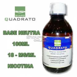 Svapo Quadrato Basic Liquid 100ml Nicotine 18mg
