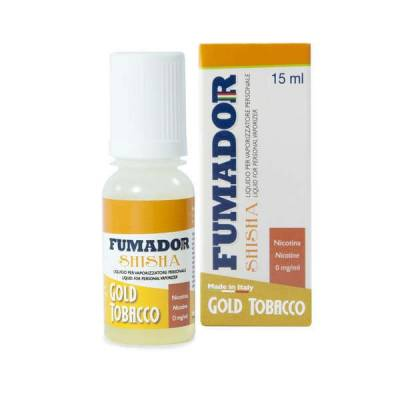 Fumador Shisha Gold Tobacco 9mg Nicotina
