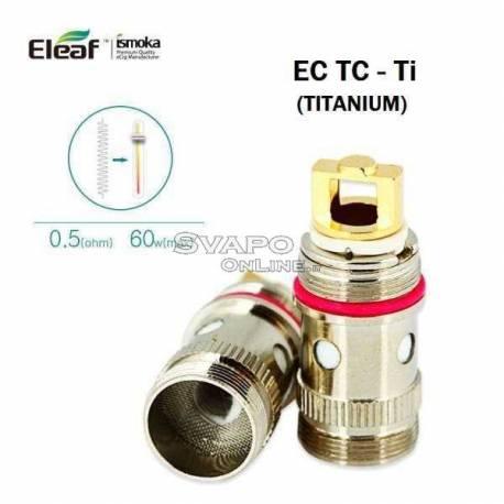 EC TC-Ti Head Eleaf 0.5Ohm For Melo Melo 2 iJust 2 (Titanium 60w )