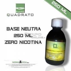Svapo Quadrato Liquido Base 250ml Senza Nicotina