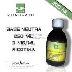 Svapo Quadrato Liquido Base 250ml 9mg Nicotina