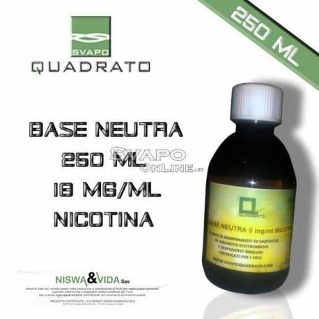 Svapo Quadrato Basic Liquid 250ml Nicotine 18mg