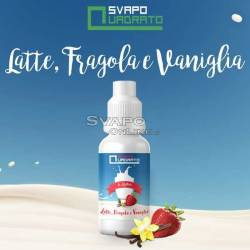 Aroma Svapo Quadrato Latte Fragola e Vaniglia