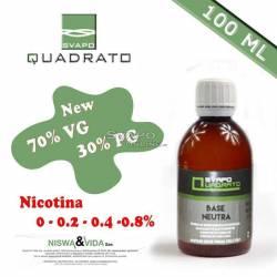 Svapo Quadrato Liquido Base 70VG 30PG 100ml Senza Nicotina