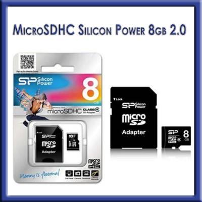 MICRO SDHC 8GB SILICON POWER 2.0 CLASS 4